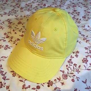 authentic adidas pastel yellow cap