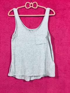Forever 21 Gray Sleeveless Top