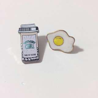 Egg + Pills Pins