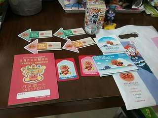 日本 Bandai Namco 麵包超人朋友  Anpanman friend figure 1個 連 貼紙 passport 及 雜項