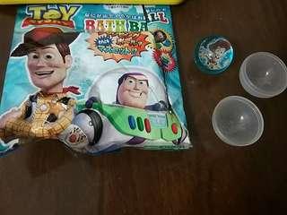 Disney Pixar Toy Story 反斗奇兵 bath ball 浴球內的 胡迪 woody 膠彈彈波