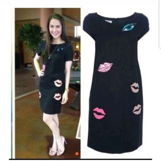 Lips Embroided Dress
