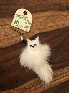 🇯🇵日本北海道購入 可愛小白狐匙扣 掛飾
