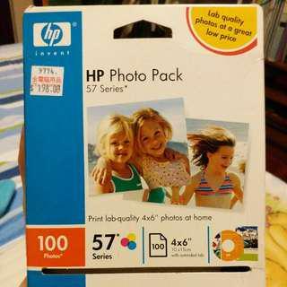 HP photo pack 相片紙 100張