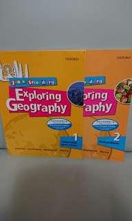 $20 for 2,Exploring Geography book 1&2,全部新買一手現全本有寫花,不想浪費所以平售