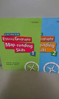 $20 for 2,Exploring Geography Map-reading Skills book 1&2,全部新買-手現全本有寫花,不想浪費所以平售