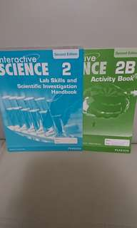 $20 for 2,全新 Interactive Science 2 Lab Skills and Scientific Investigation Handbook 及 2B Activity Book