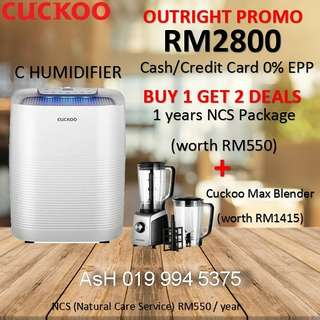 Cuckoo Air Purifier C Humidifier New Model