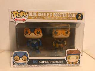 Funko Blue Beetle and Booster Gold