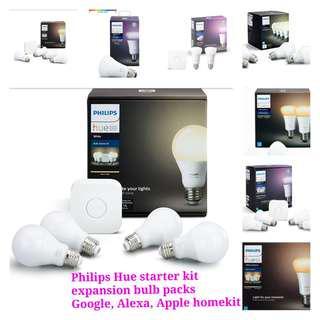 Philips hue white ambience colour warm starter kit/ bulb packs