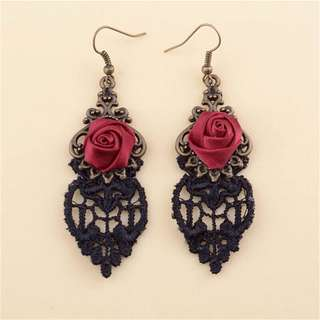 Gothic Earrings brand new red and black