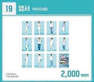 Wanna One Pop Up Store Postcards