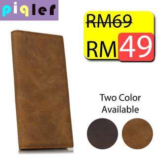 Long Leather Wallet Purse Dompet Kulit Panjang No Logo