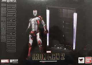 SHF Iron Man 鋼鐵奇俠 Mark V 5 & Hall Of Armor Set 格納庫