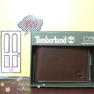 Timberland wallet 男裝銀包 啡色