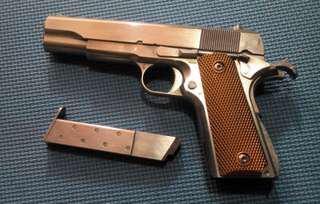 Airsoft metal toy gun 45