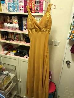 Golden Long Gown (L)