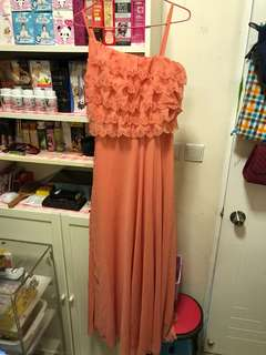 Coral Long Dress/Gown
