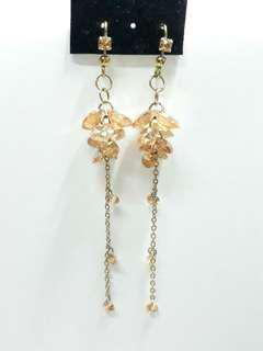 黃水晶耳環