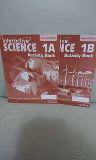 $20 for 2,全新 Interactive Science Activity Book 1A, 1B
