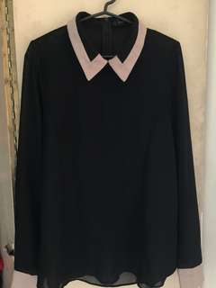 Chiffon Black and Brown Polo