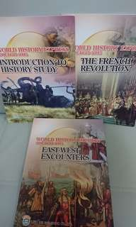 $30 for 3,World History Express 共3本:Introduction to History Study, The French Revolution, East-West Encounters,全部新買一手現全本有寫過,不想浪費所以平售
