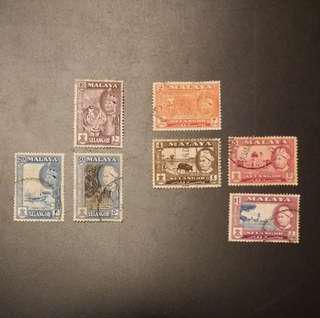 Vintage Malaya Stamps (Selangor)