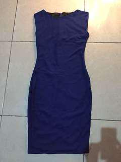 New! Sisa butik! Royal blue fitted dress