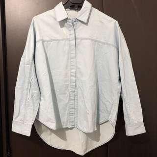 ZARA blue oversize shirt