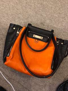 Conti moda faux leather orange bag