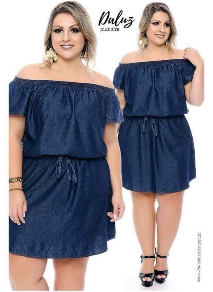 e4d463dd3dc 🌸400 🌺U.s plus size off shoulder dress 🌻soft denim 💐one color ...