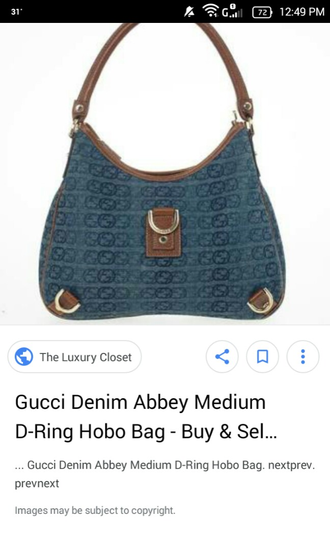 779ff74d7a7 💯% Original GUCCI Abbey D ring Bag- NOT VINTAGE- REPRICED!