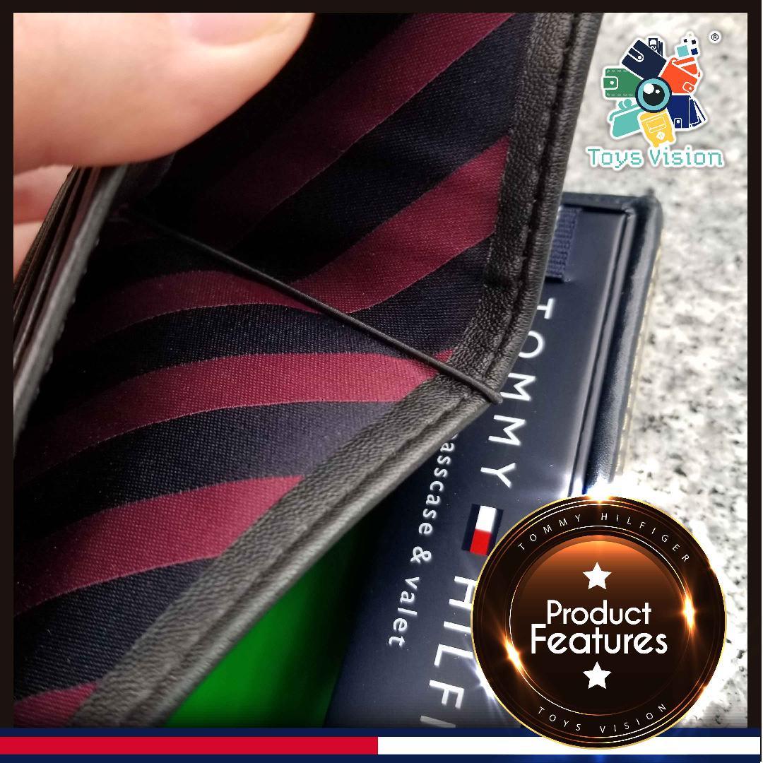 全新 Tommy Hilfiger Men's Leather Wallet 真皮銀包, 黑色