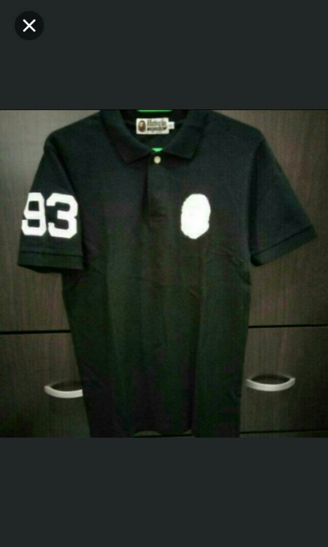 a33432744 A bathing ape Polo t shirt, Men's Fashion, Clothes, Tops on Carousell