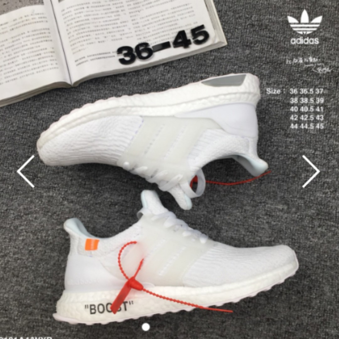 quality design 65cc7 9a073 Adidas triple white Ultra boost 4.0
