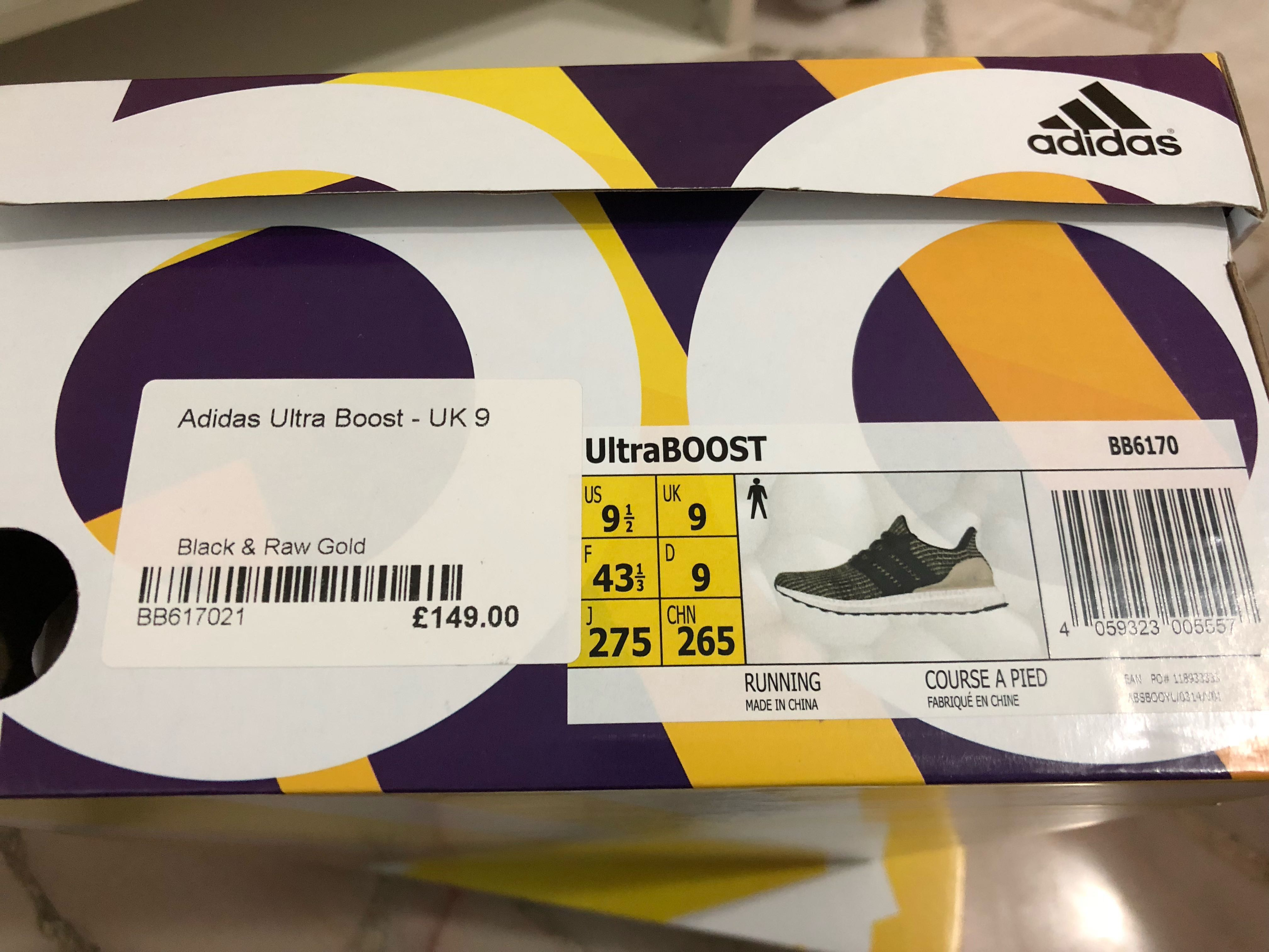 a759092c1ab Adidas Ultra Boost 4.0 Core Black Raw Gold