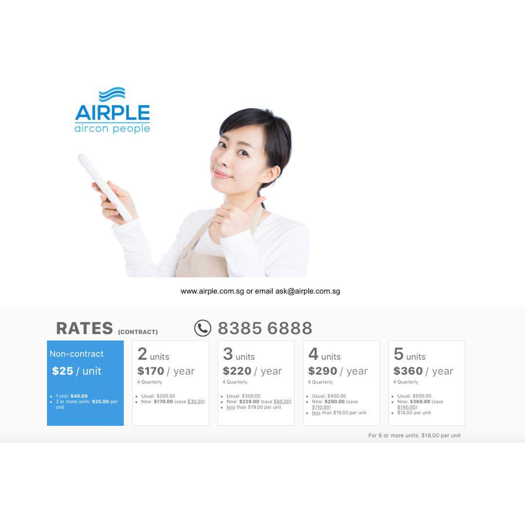 Aircon Service $18 per unit