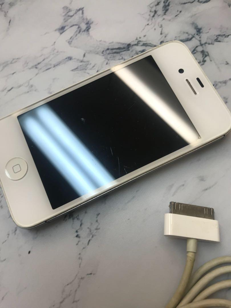 Apple iPhone 4 White 16gb GREAT WORKING ORDER