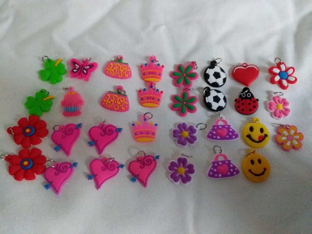 Assorted rubber like charms (can be on bracelets and necklaces and keychains)