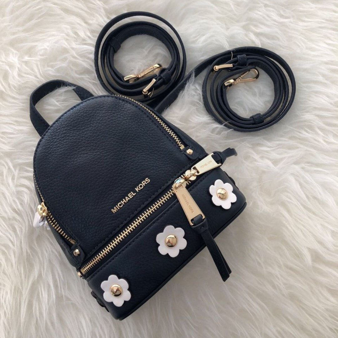 a8251d5baf Authentic Michael kors rhea xs admiral flower backpack - navy ...