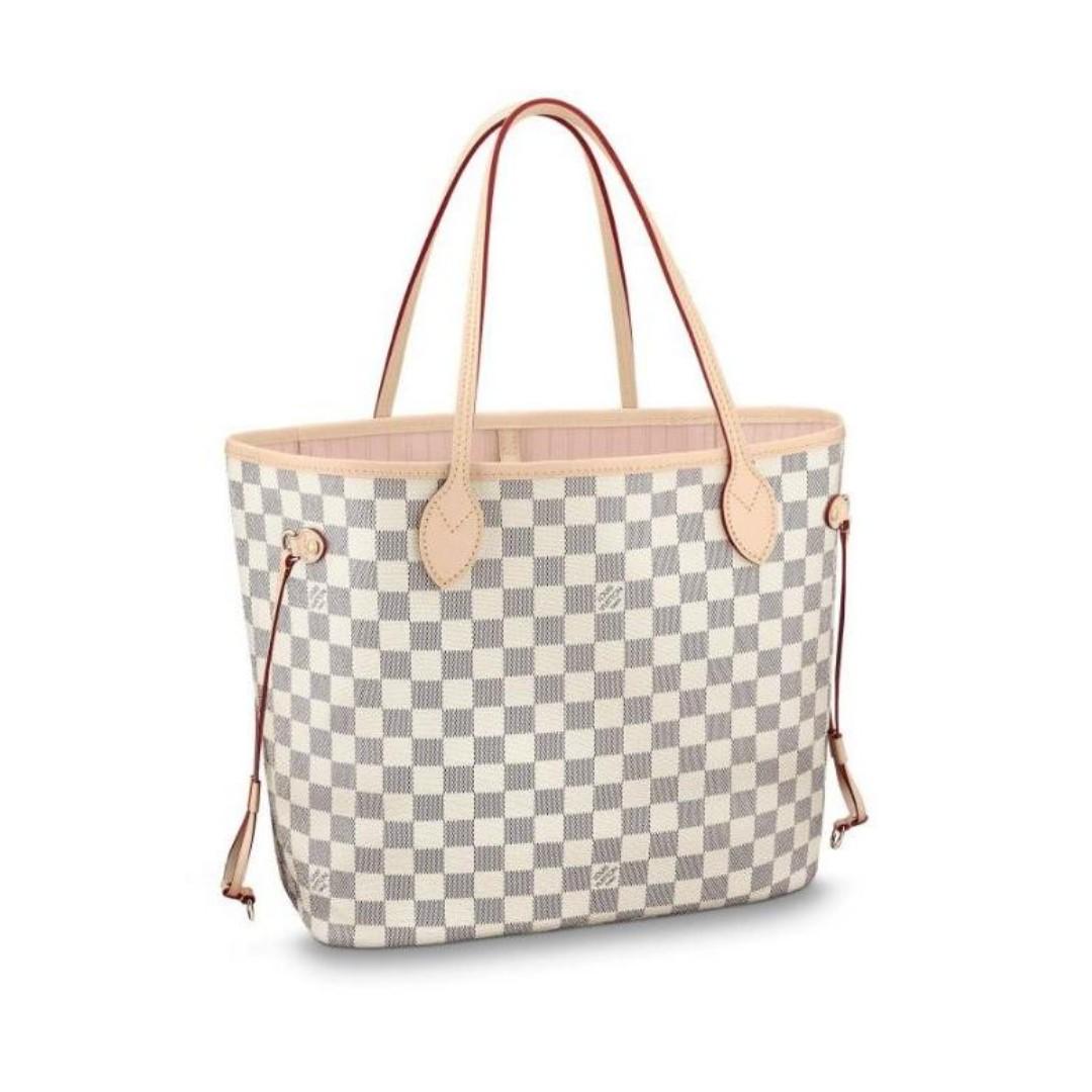 7b2081646dd1 Authentic Quality Louis Vuitton Neverfull Damier Azur Canvas Tote ...