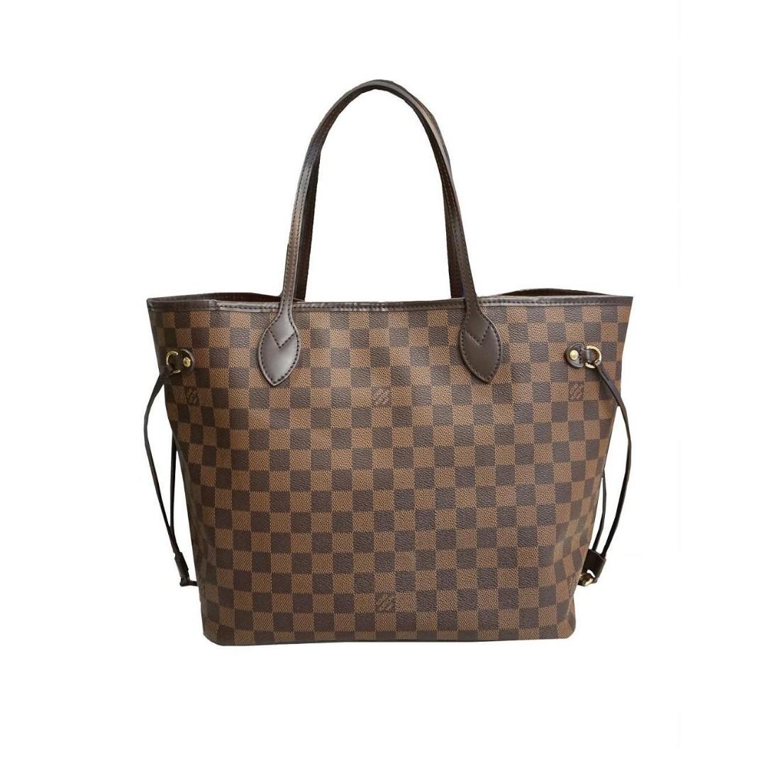 daeff2e3ad82 Authentic Quality Louis Vuitton Neverfull Damier Ebene Canvas Tote Bag LV  Collection Shoulder Bag Women s Bag