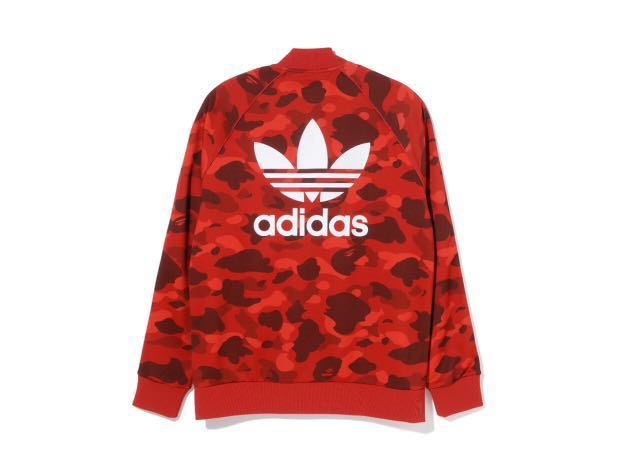 0f7adff538f58 Bape x adidas track jacket red camo S size, Men's Fashion, Men's Tops on  Carousell