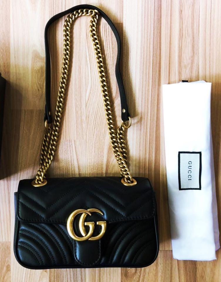 bfe64c79d932 BN Gucci GG Marmont Mini Shoulder Bag