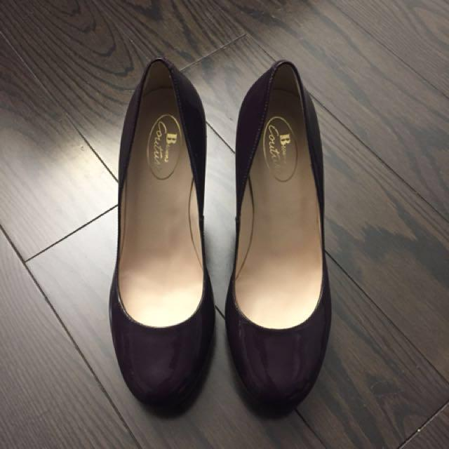 Brand New Brown's Couture Patent Purple Pumps Heels Shoes