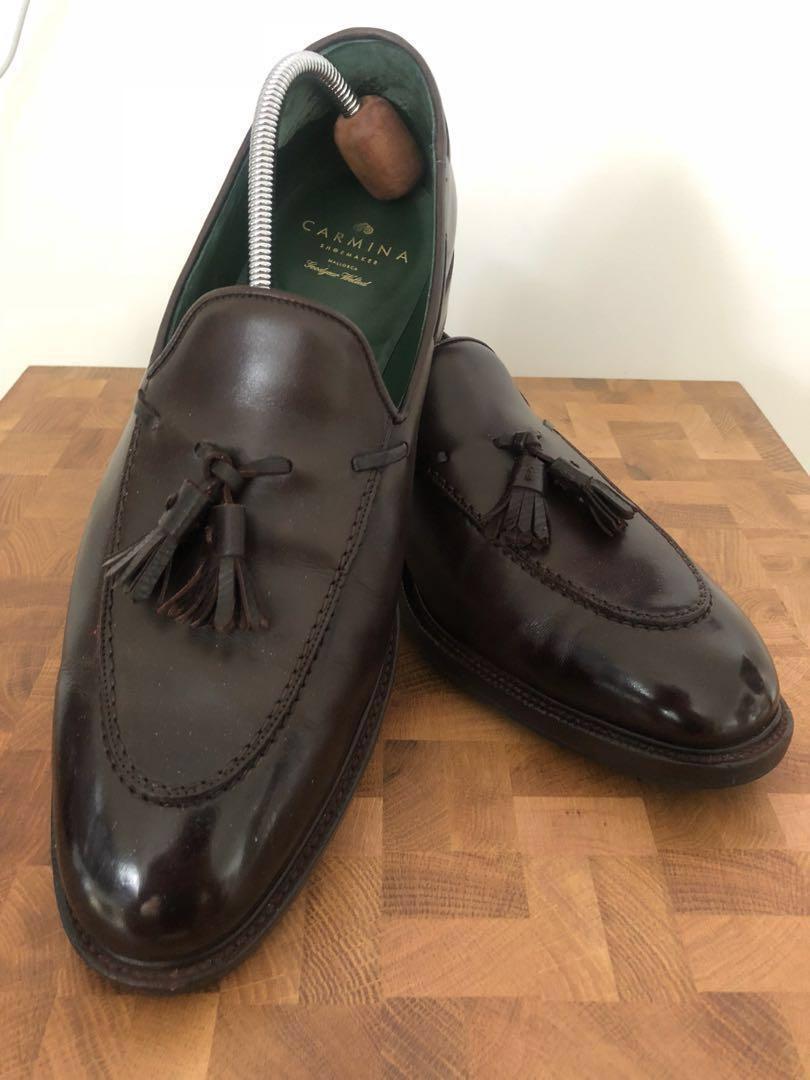 37a4bdf138b Carmina dark brown unique tassel loafer (Detroit EEE 10UK) - Lowered ...