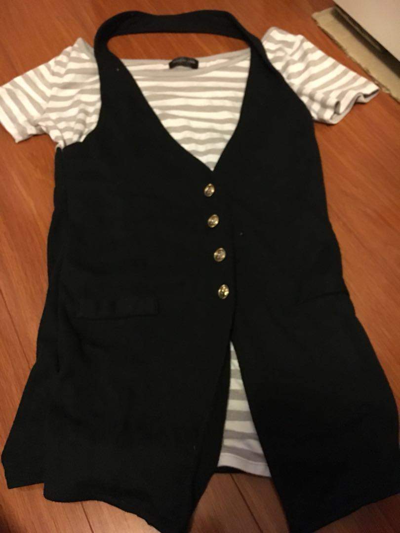 Cote de Stripe helterneck T shirt size S