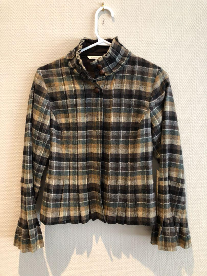 Dvf wool blend jacket size 10