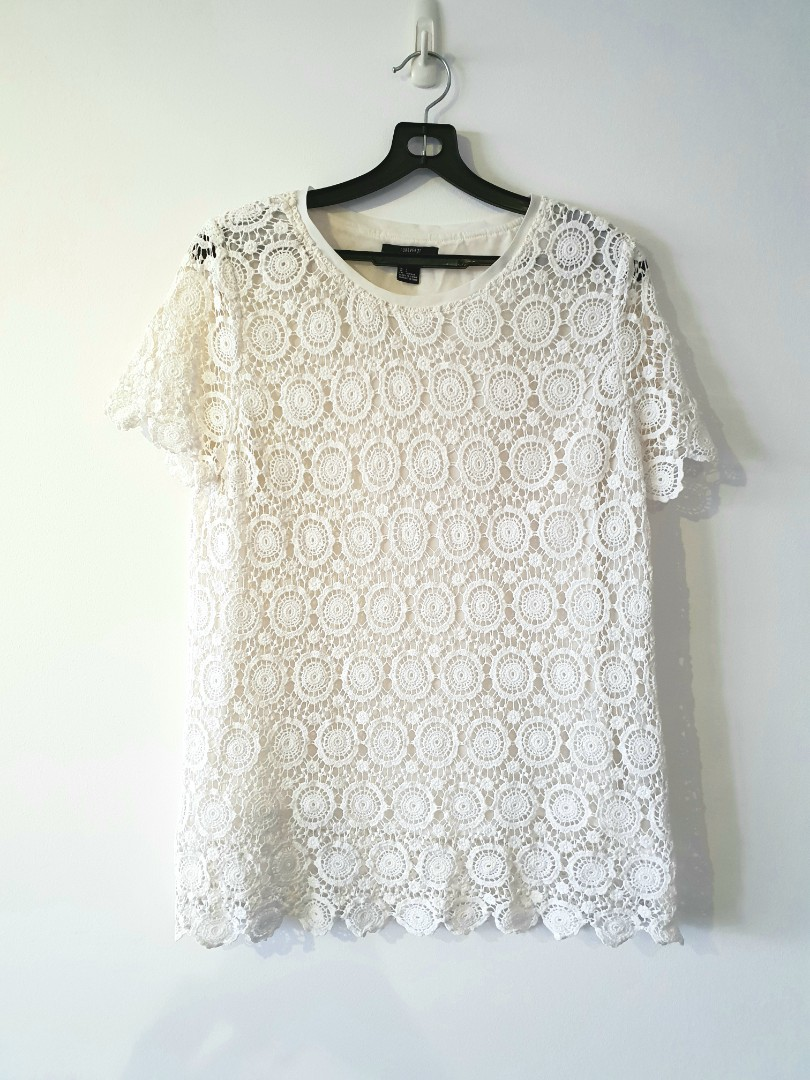Forever 21 Crochet Top Womens Fashion Clothes Tops On Carousell