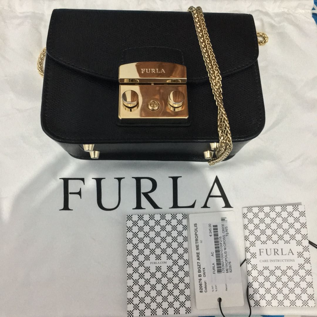 Furla Metropolis Onyx Black Womens Fashion Bags Agatha Wallets On Carousell